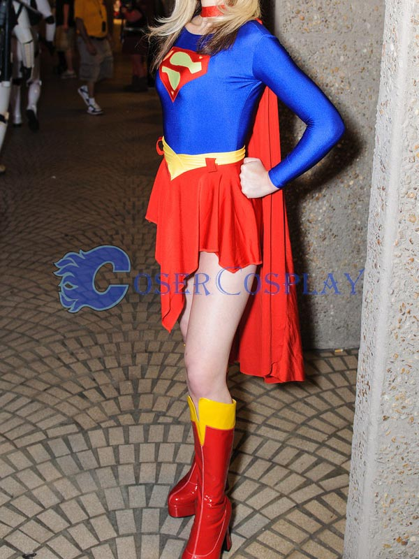2018 Supergirl Cosplay Costume With Cape