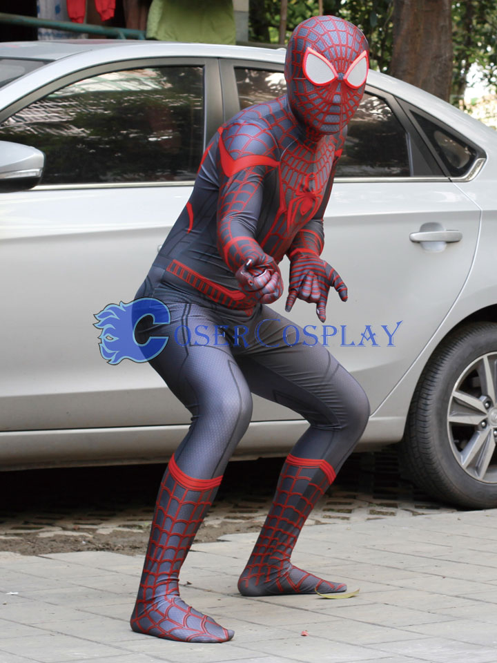 2018 Superior Spider Man Zentai Cosplay Costume
