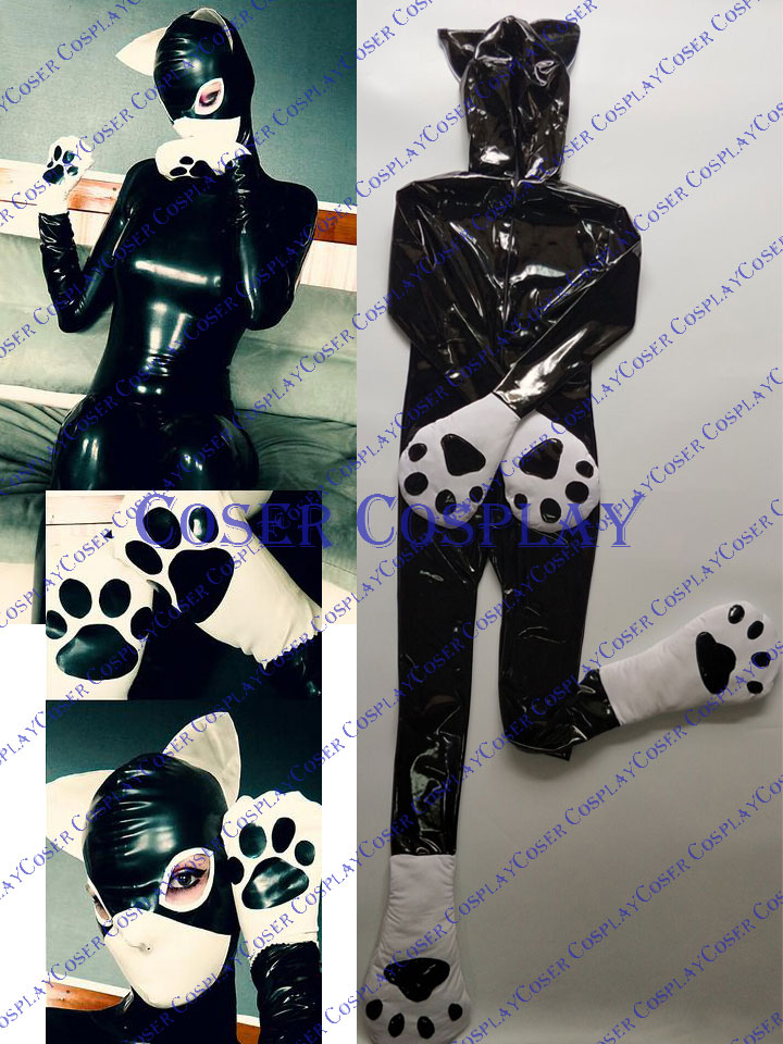 2019 Amazing Cat Suit Full Body Zentai PVC Sexy Costume 0325