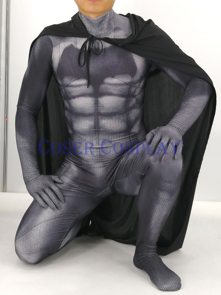 2019 Batman Bruce Wayne Coplay Costume With Cape Kids 0826