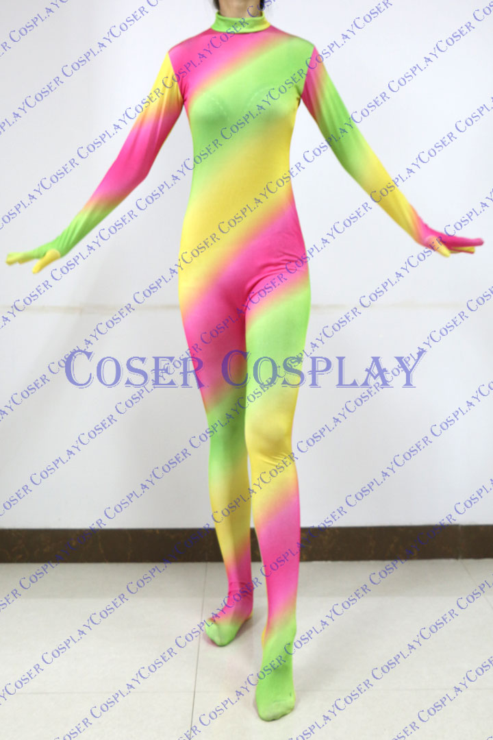 2019 Beautiful Rainbow Color Sexy Catsuit New Halloween 0305