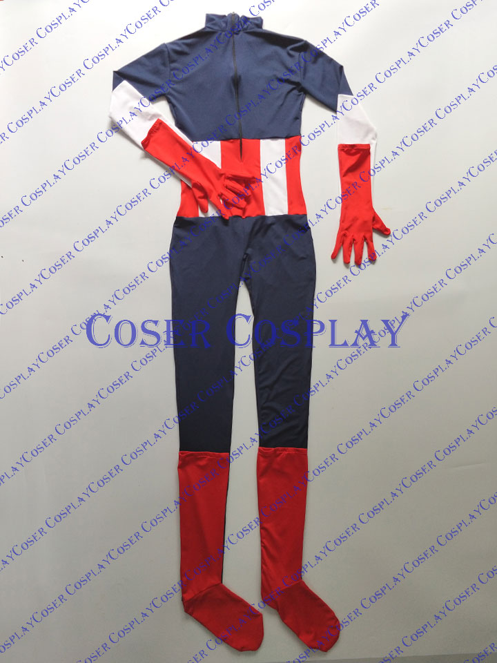 2019 Captain America Bodysuit Sexy Halloween Cosplay Costume 0428