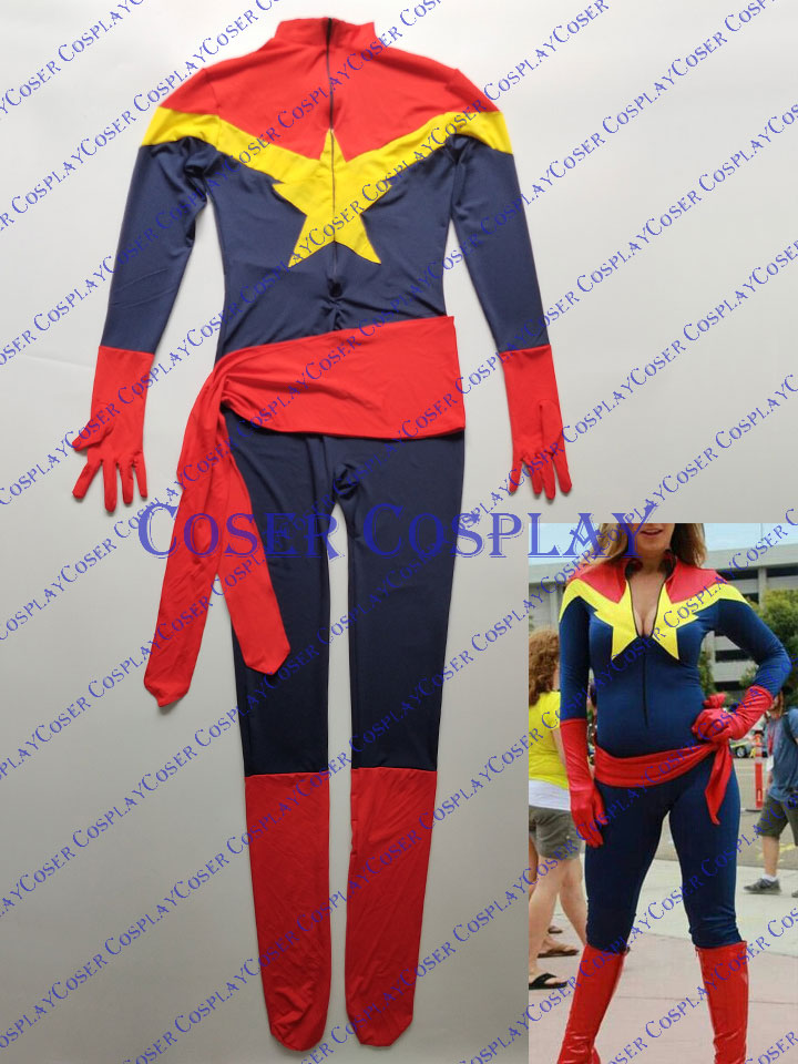2019 Captain Marvel Carol Danvers Cosplay Costume Catsuit 0325