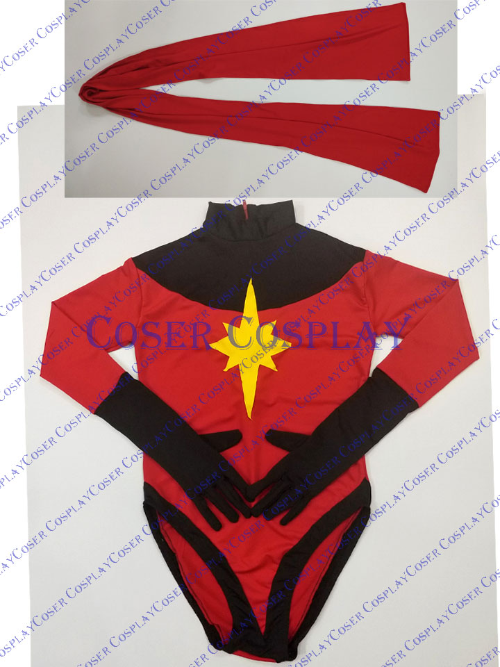 2019 Captain Marvel Carol Danvers Sexy Halloween Costumes 0409
