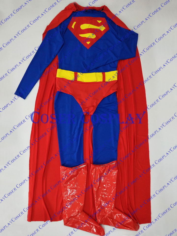 2019 Classic Superman Cosplay Costume Halloween 0325