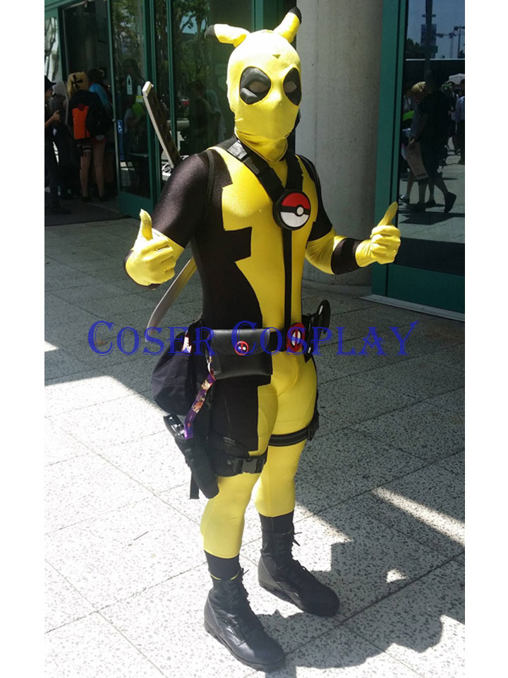 2019 Cute Deadpool Pikachu Cosplay Kids Halloween Costumes 0730