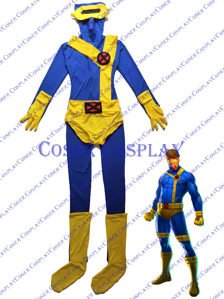 2019 Cyclops Scott Summers Bodysuit Cosplay Costume X-MEN 0428