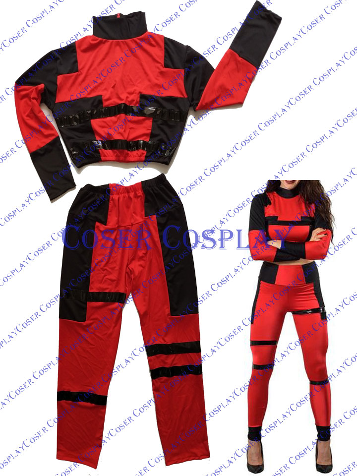 2019 Female Deadpool Cosplay Lady Casuit Halloween 0421