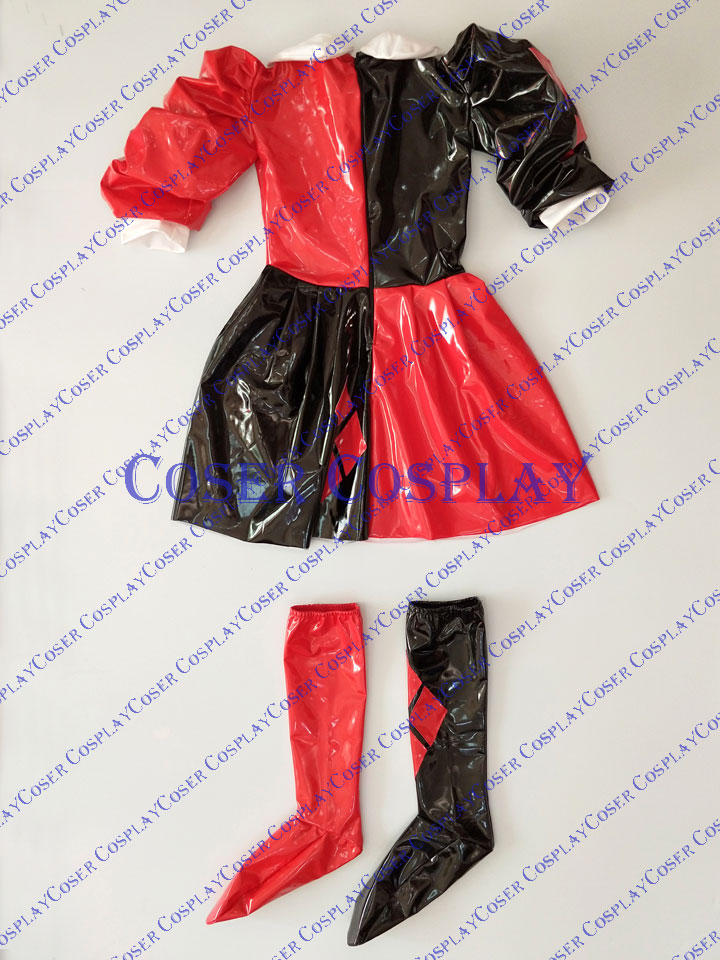 2019 Harley Quinn Cosplay Costume Dress PVC 0421