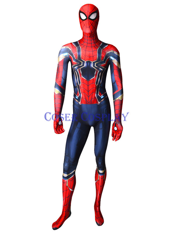 2019 Iron Spiderman Zentai Suit Cosplay Costume 0806
