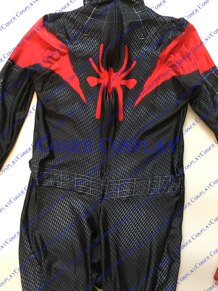 2019 Miles Morales Spiderman Cosplay Costume New 0531