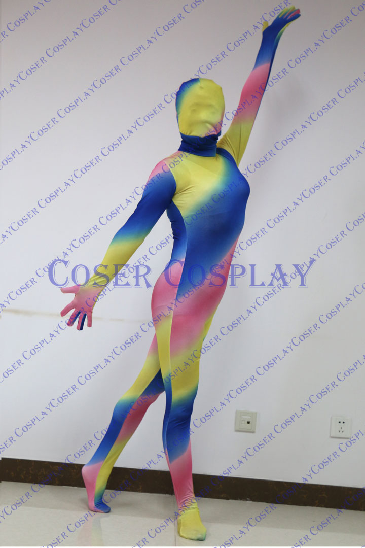 2019 Mixed Color Full Body Zentai Halloween Idea 0322