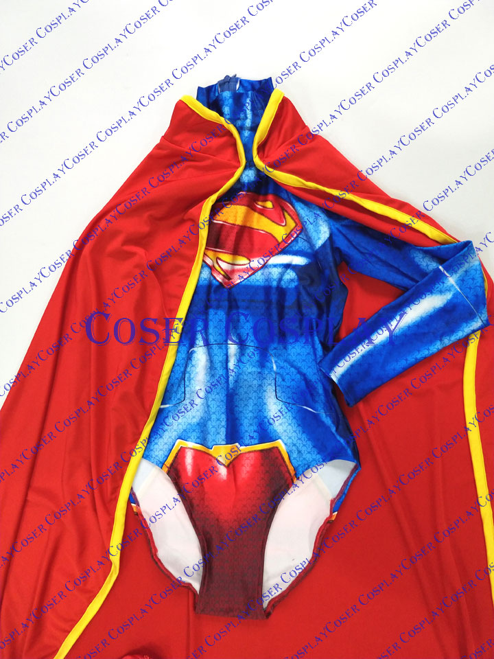 2019 New 52 Supergirl Cosplay Costume With Cape Halloween 0806