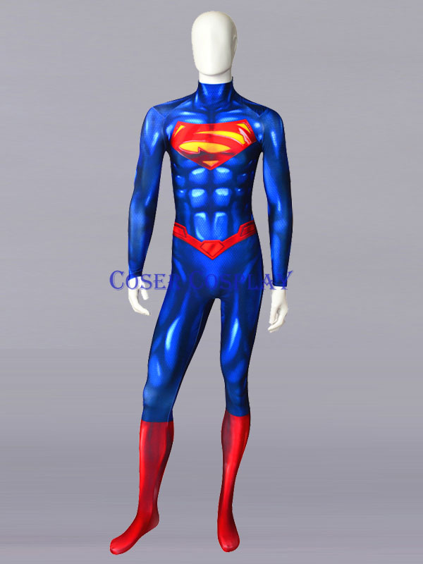 2019 New 52 Superman Cosplay Costume Halloween For Men 0806