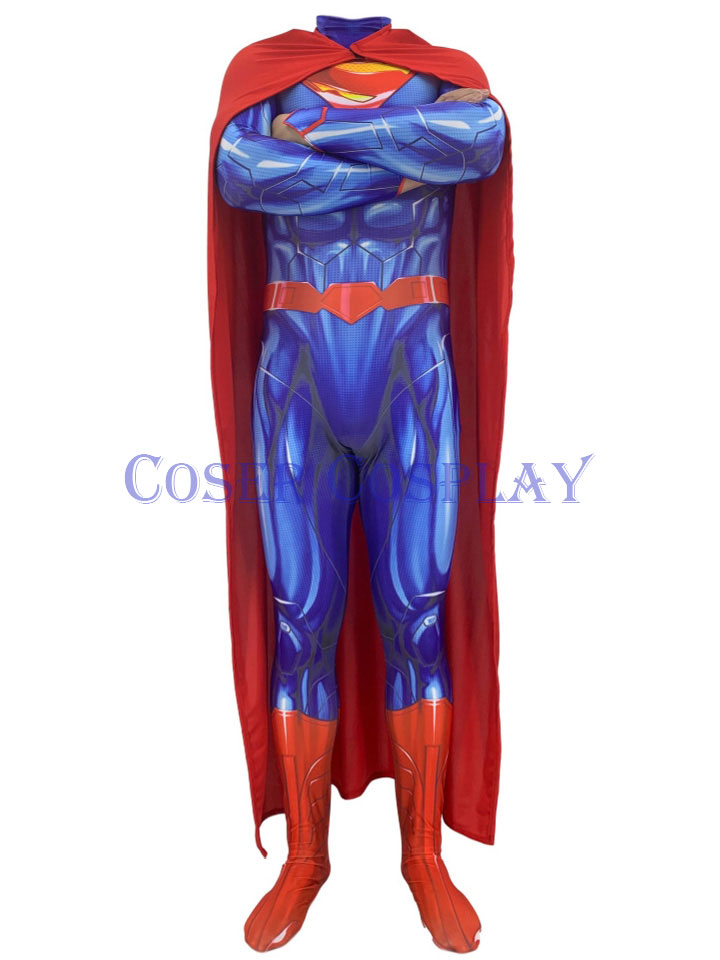 2019 New 52 Superman Costume With Cape Halloween 0906