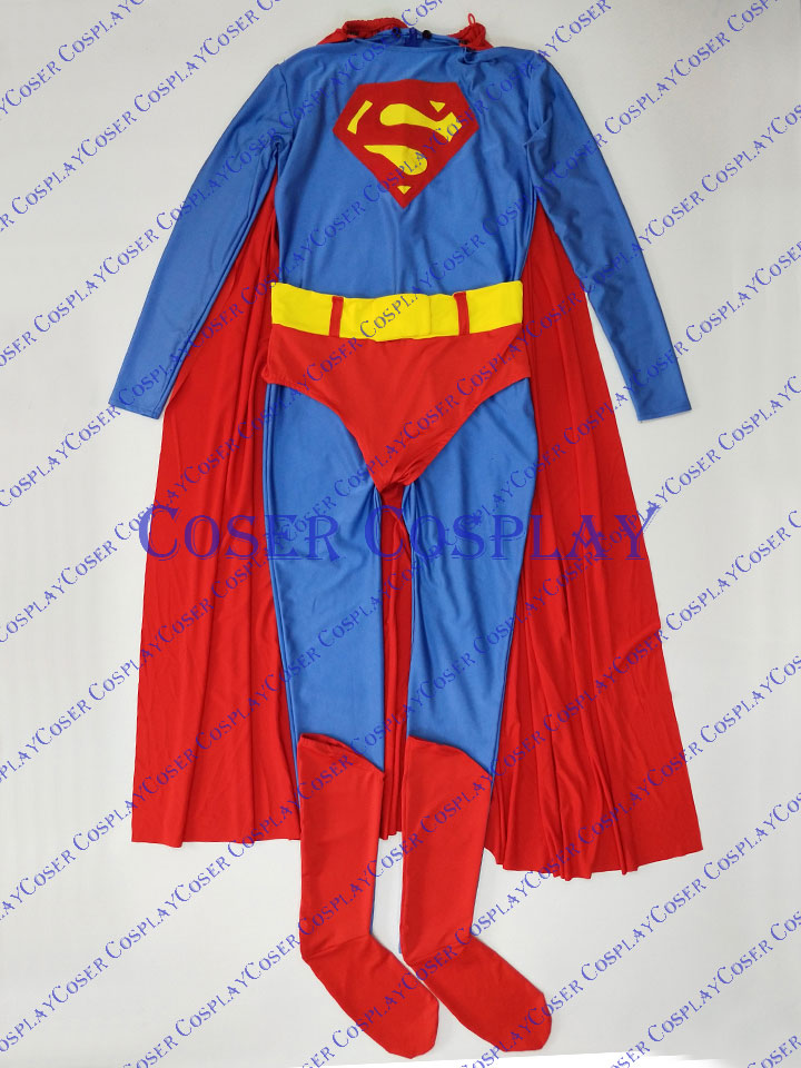 2019 Sky Blue Superman Cosplay Costume Halloween Idea 0325