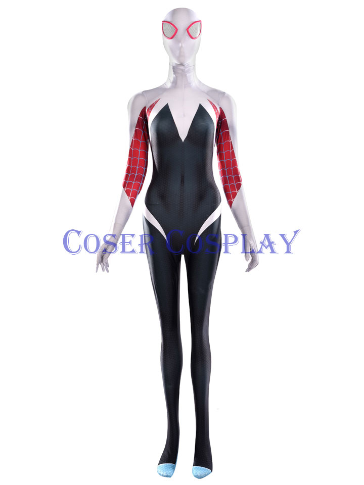 2019 Spider Woman Gwen Stacy Cosplay Costume Halloween 0531