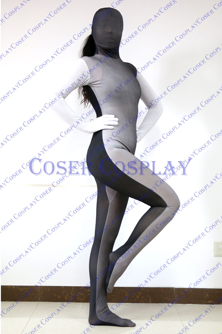 2019 Split Zentai Sexy Halloween Costumes Dark Black 0305