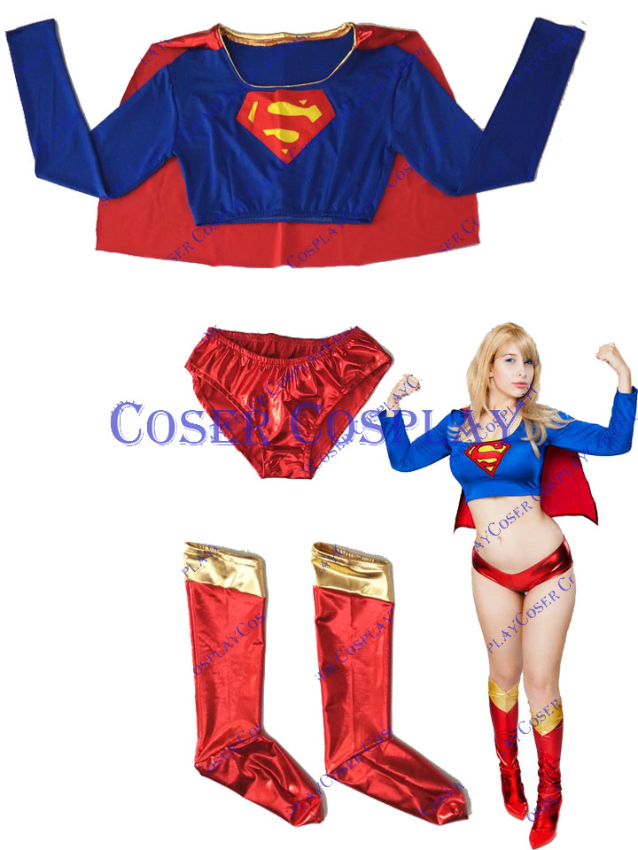 2019 Supergirl Sexy Halloween Cosplay Costume For Women 0823
