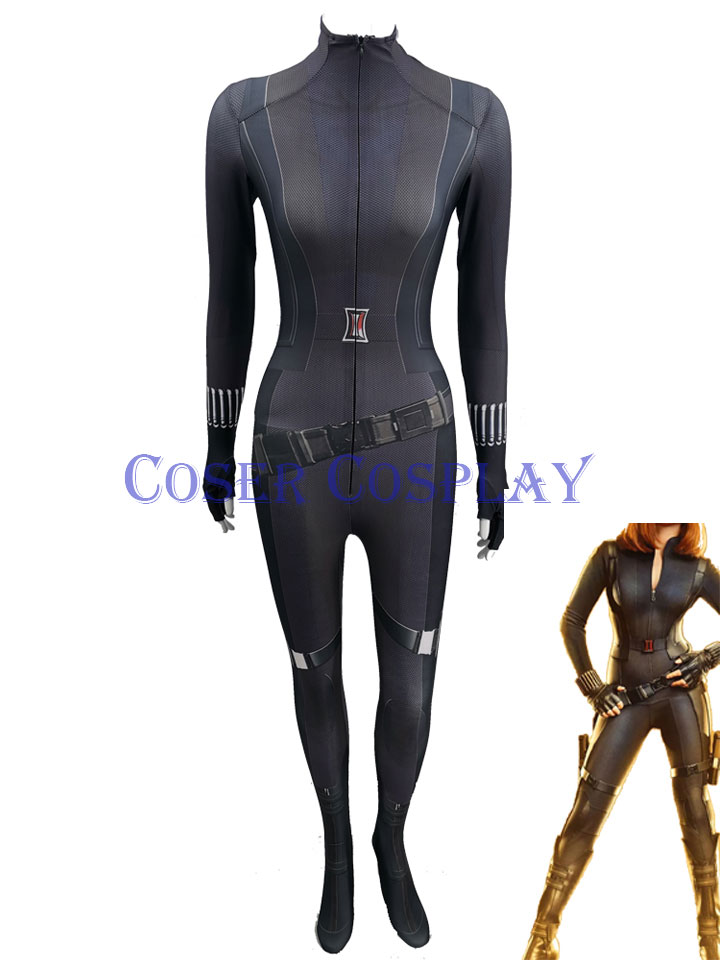 2020 Black Widow Cosplay Costume Black Halloween Suit 0428