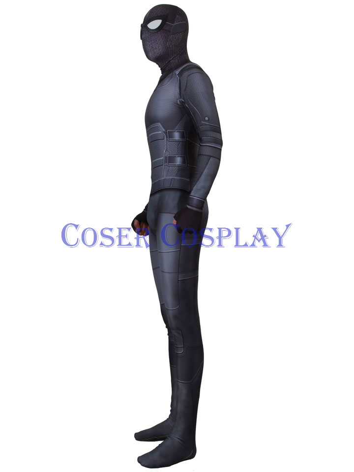 2020 Spider Man Far From Home Black Batsuit Costume 1129