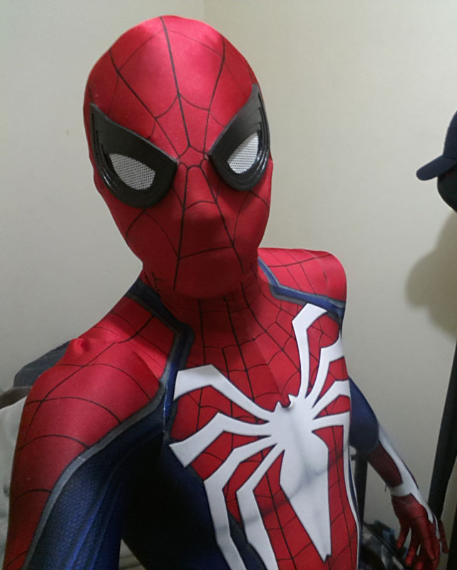 Adult Insomniac Spiderman Costume PS4 Game 16081701