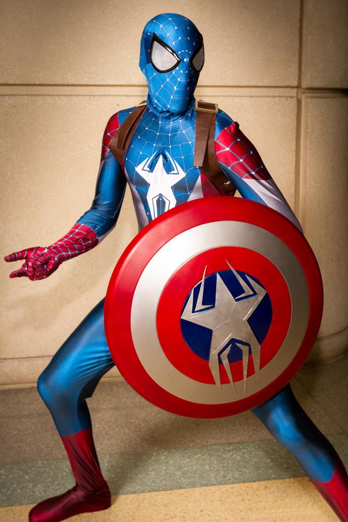 amazing captain america spiderman costume halloween 16081203