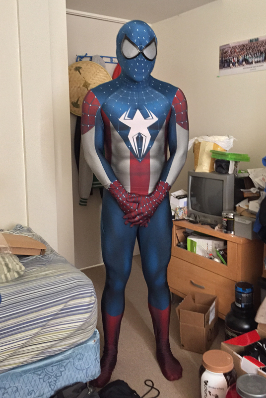 Amazing Captain America Spiderman Costume Halloween 16081203