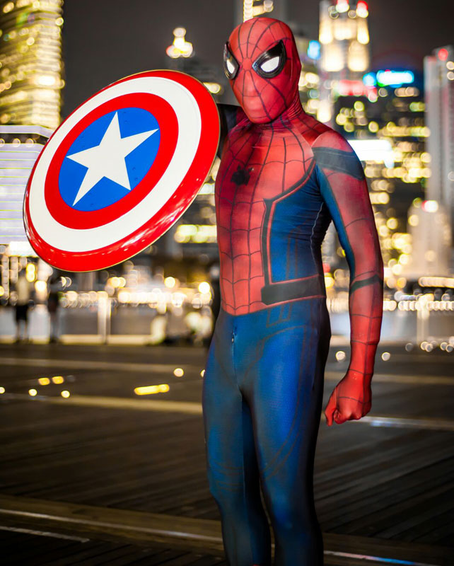 Amazing Civil War Spiderman Costume 16081603 & Amazing Civil War Spiderman Costume 16081603 | cosercosplay.com