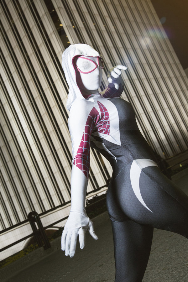 Amazing Spider Woman Gwen Stacy Spider Gwen Costume For Halloween 16081202