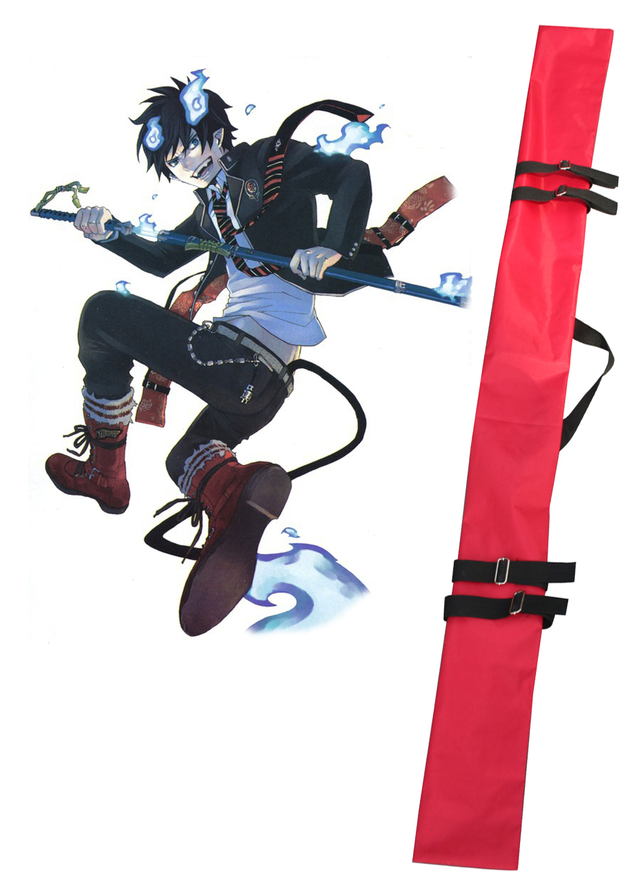 Ao no Exorcist Okumura Rin Sword Bag Red Cosplay Accessories