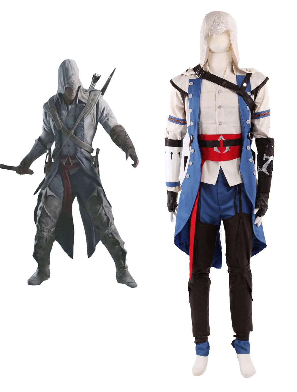 Assassin S Creed Iii Connor Assassin Uniform Cosplay Costume