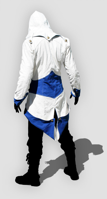 Assassin's Creed III Connor Blue And White  Jacket Cosplay Costume