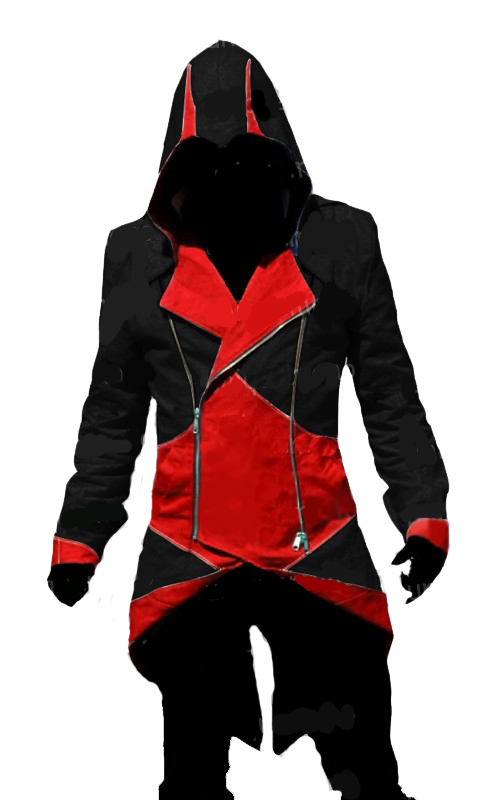 Assassin's Creed III Connor Red And Black Jacket Cosplay Costume