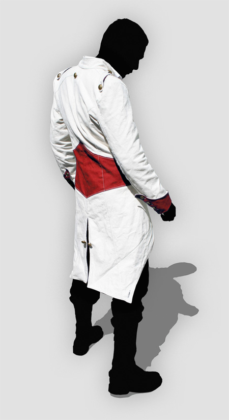 Assassin S Creed Iii Connor Red And White Jacket Cosplay Costume