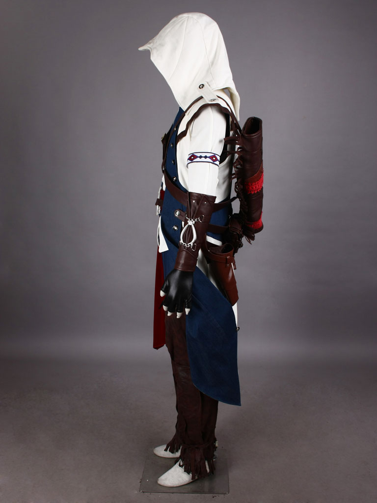 Assassin's Creed III Connor White Assassin Uniform Cosplay Costume
