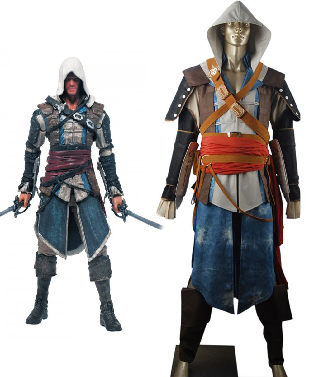 Assassin's Creed4 Black Flag Edward Kenway Cosplay Costume