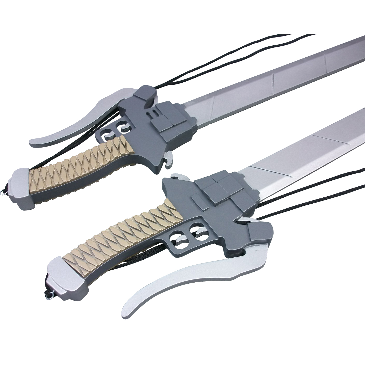 Attack on Titan 3-D Maneuver Gear Long Sword Cosplay Wooden Weapons