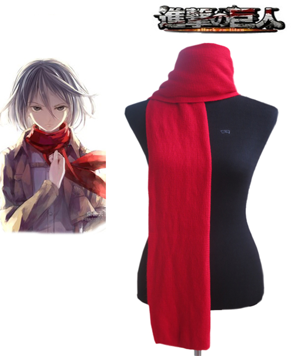 Attack on Titan Mikasa Ackerman Red Cosplay Scarf