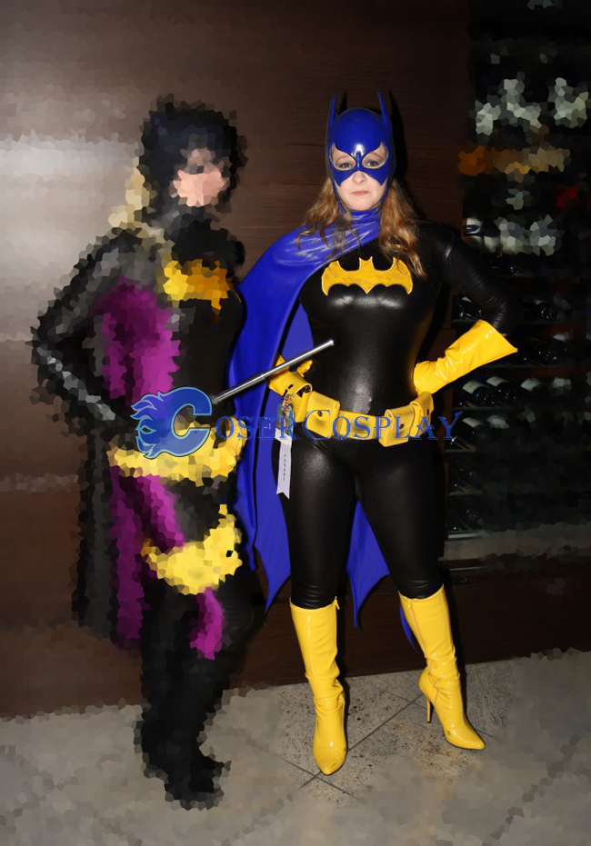 Batgirl Cosplay Costume Blue Cape