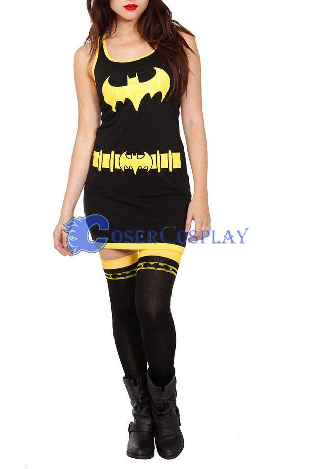 Batgirl Cosplay Costume Bodysuit Dress