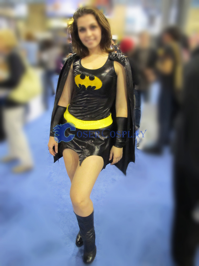 Batgirl Cosplay Costume Halloween Dress