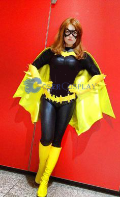 Batgirl Cosplay Costume With Yellow Cape