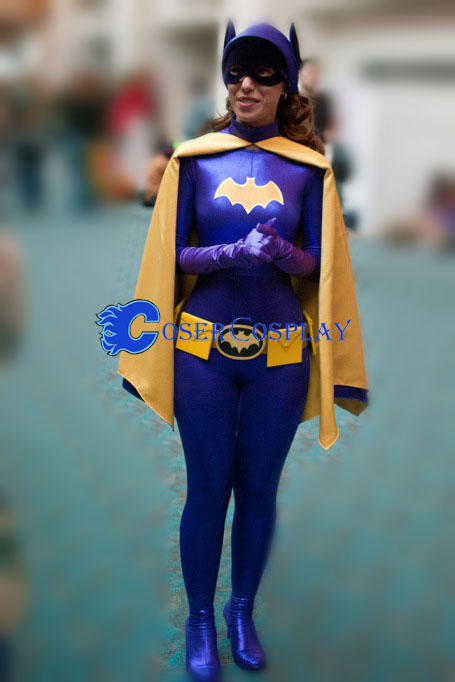 Batgirl Costume Halloween Catsuit Purple