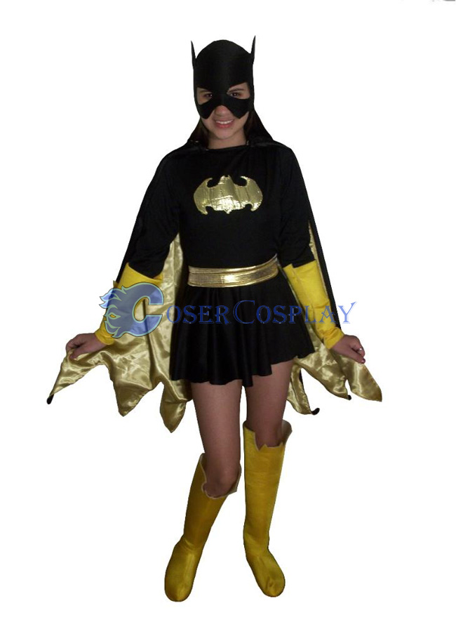 Batgirl Costume Halloween Dress Cape