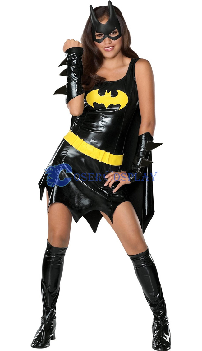 Batgirl Halloween Costume Black Dress