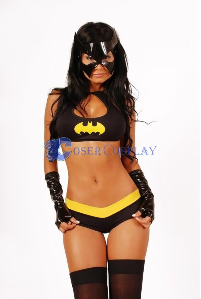 Batgirl Sexy Halloween Costumes For Women Suit