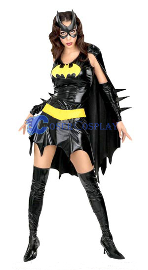 Batman Cosplay Costume Black Dress