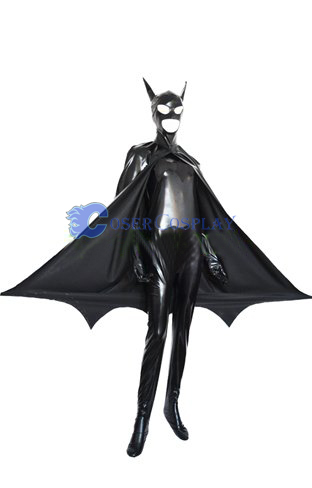 Batman Cosplay Costume Open Mouth