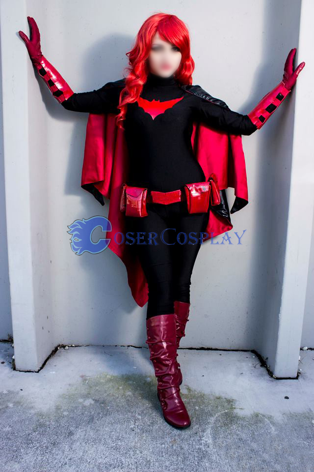 Batman Costume Batgirl Halloween Red Cape